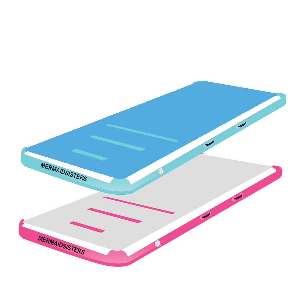 Afbeelding van een blauwe en roze AirFloor voor de AirTrack