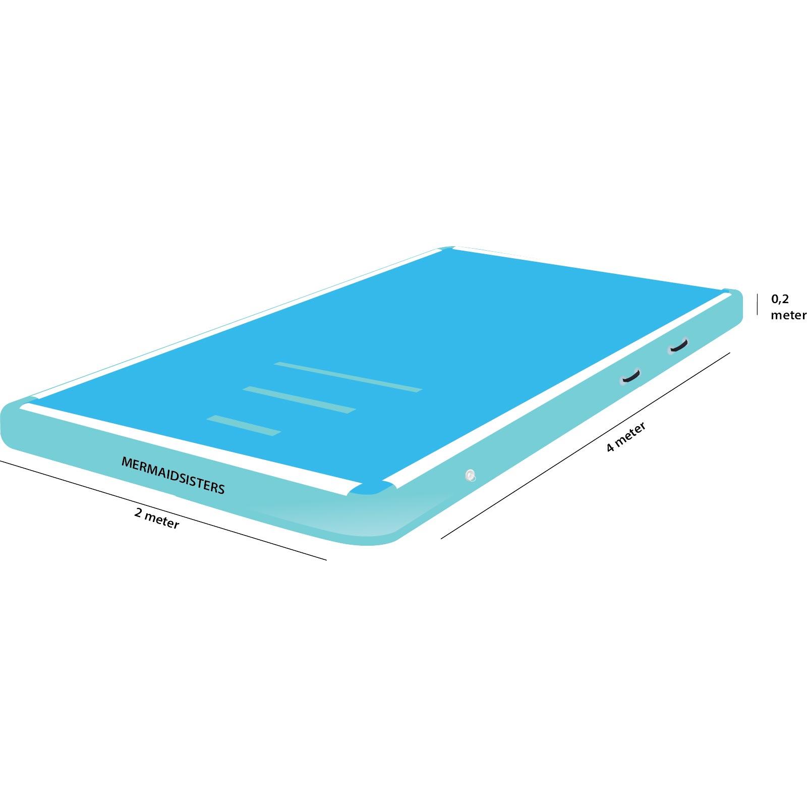 AirTrack 4 meter blauw 2 meter breed 20 cm hoog