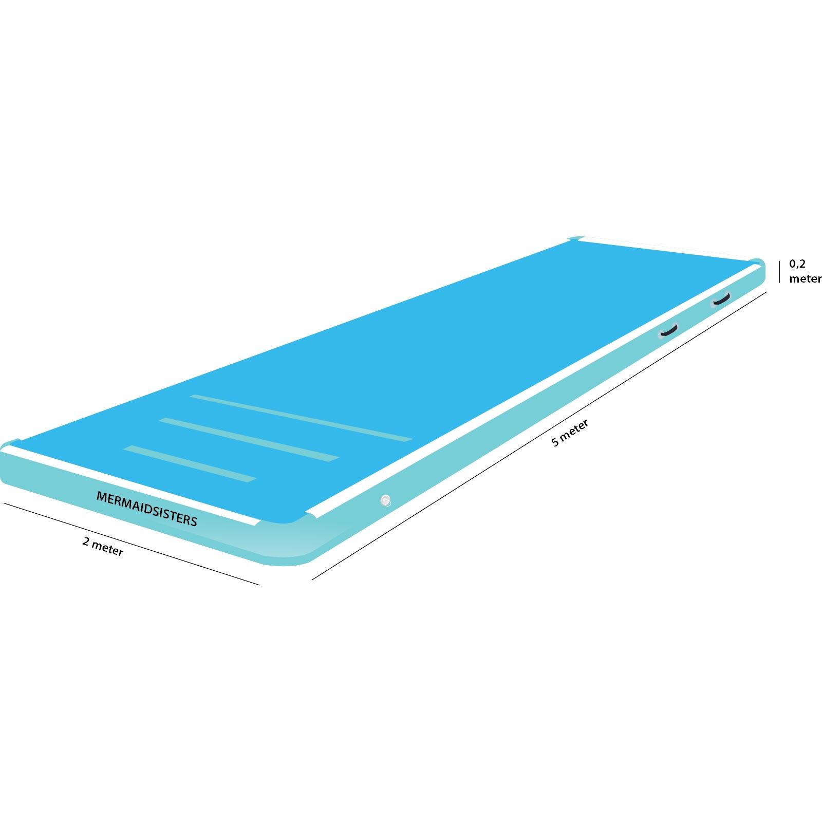 AirTrack 5 meter blauw 2 meter breed 20 cm hoog