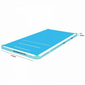 AirTrack blauw 2 meter breed 10 cm hoog