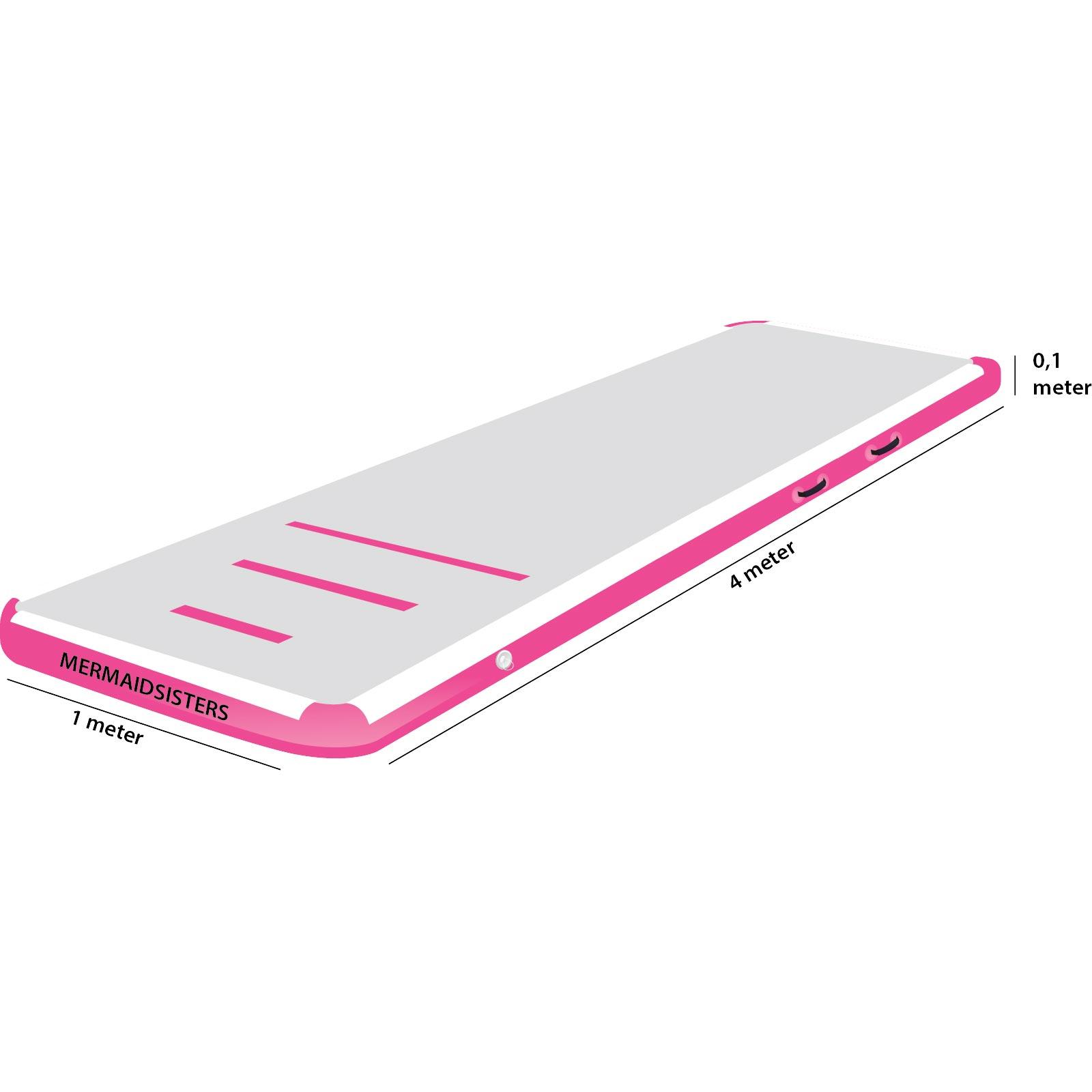 AirTrack roze 1 meter breed 20 cm hoog