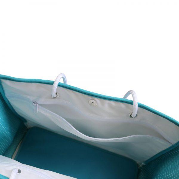 zeemeermin staart tas bovenkant open zoom