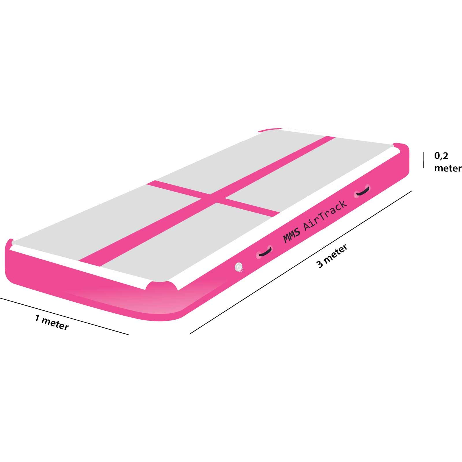 Airtrack 3 met x 1 x 0,2 roze