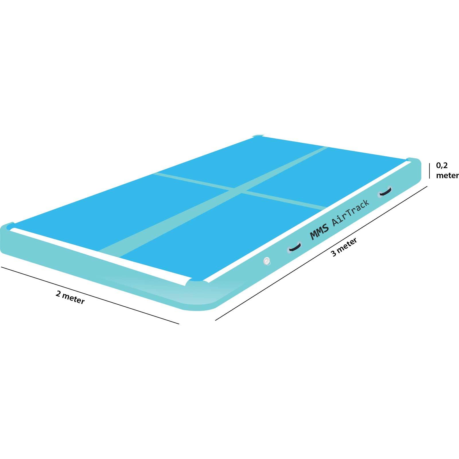 Airtrack 3 meter x 2 x 0,2 blauw
