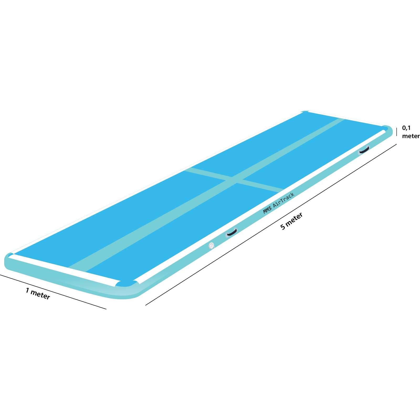 Airtrack 5 met x 1 x 0,1 blauw