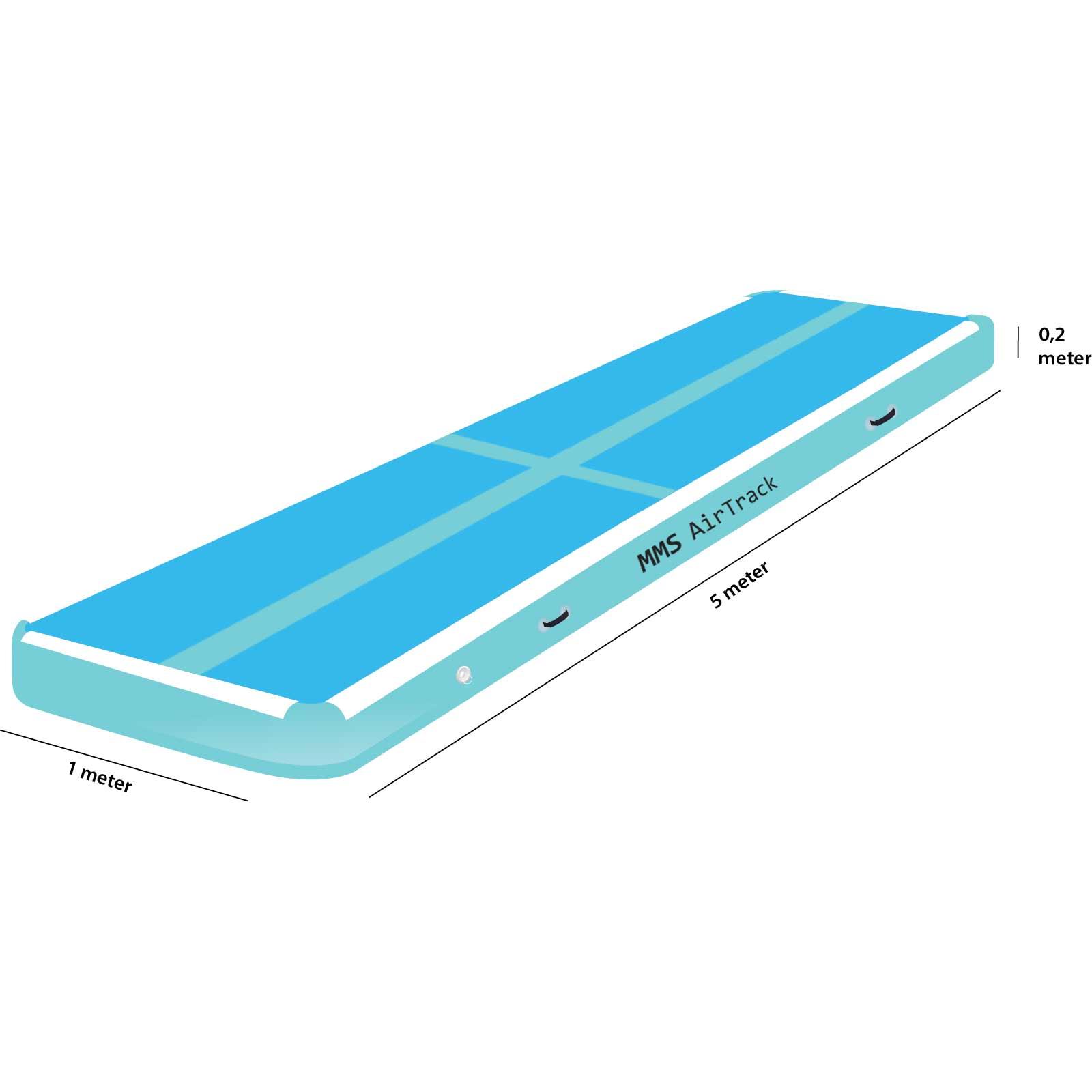 Airtrack 5 met x 1 x 0,2 blauw