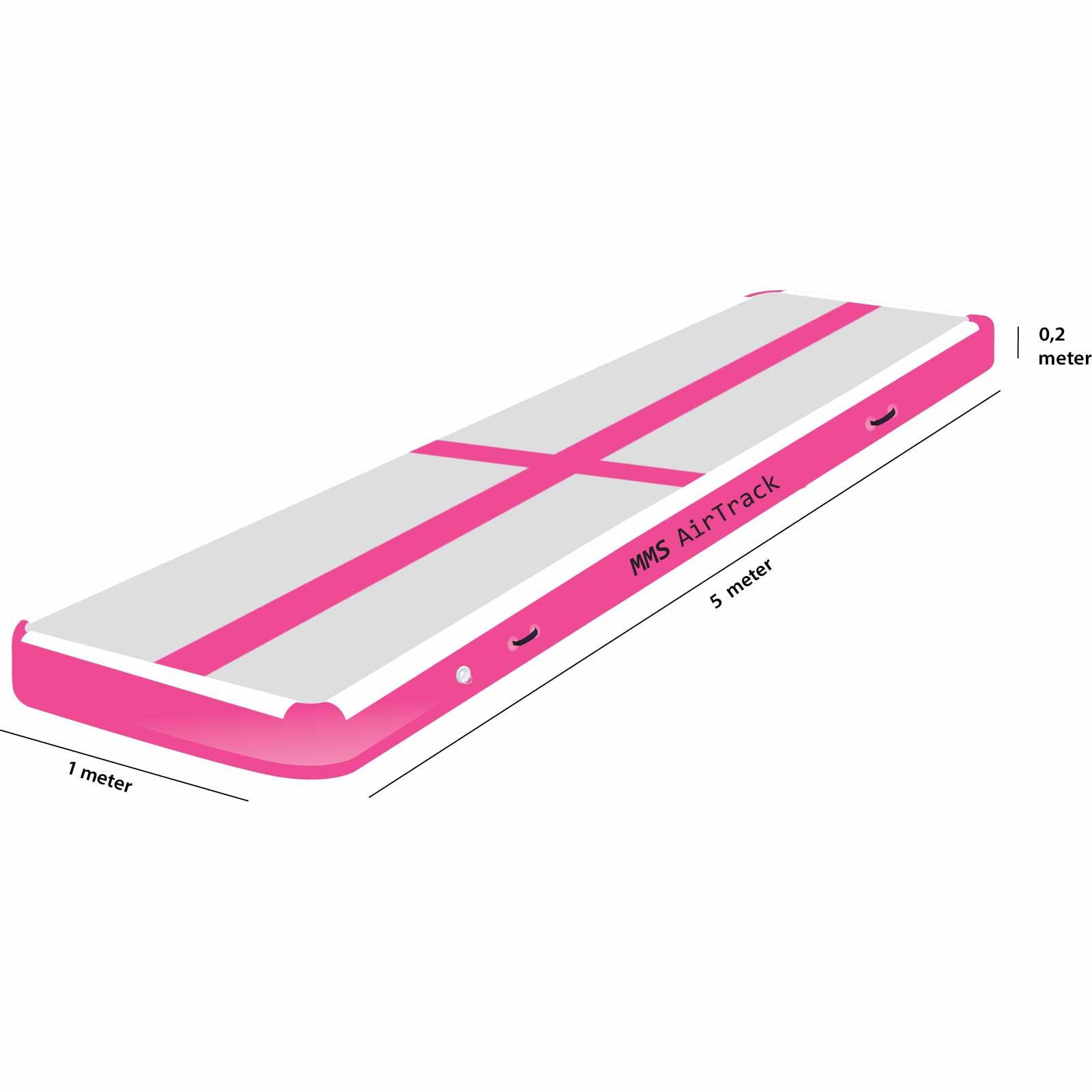 Airtrack 5 met x 1 x 0,2 roze