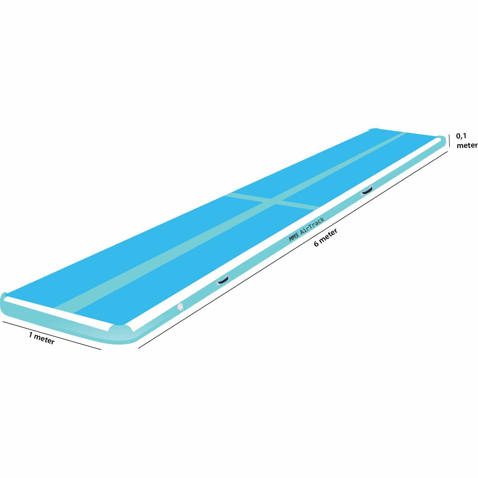 Airtrack 6 met x 1 x 0,1 blauw
